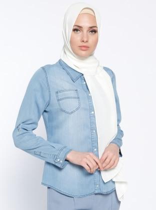 Kot Gömlek - Açık Mavi Nihan