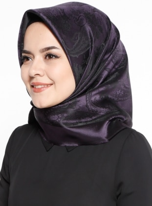 Shawl Patterned - Purple - Scarf