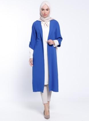 Tunik&Kap İkili Takım - Saks Ekru