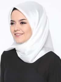 Kristal Eşarp - Beyaz - Mısırlı