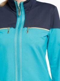 Polo neck - Navy Blue - Mint - Tracksuit Set