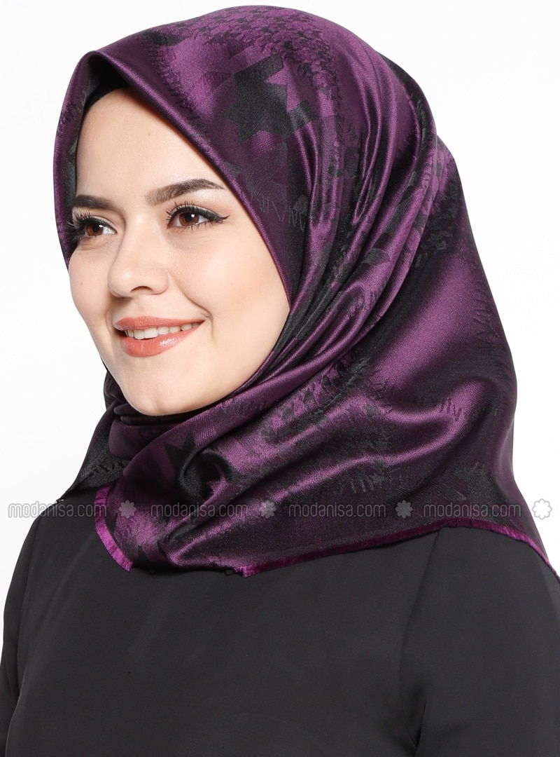 Printed - Purple - Scarf