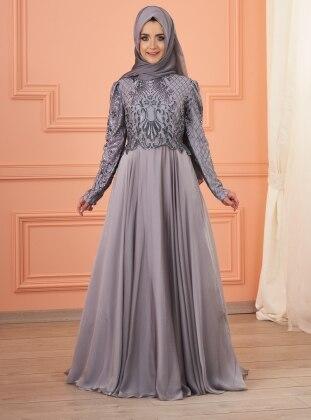 İmran Abiye Elbise - Gümüş