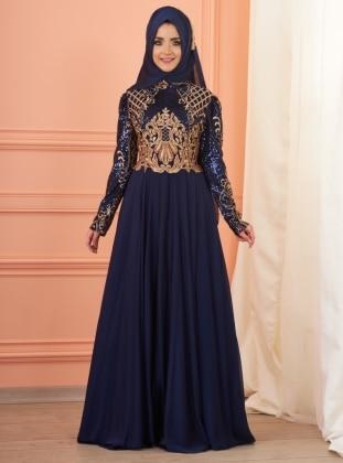 İmran Abiye Elbise - Lacivert
