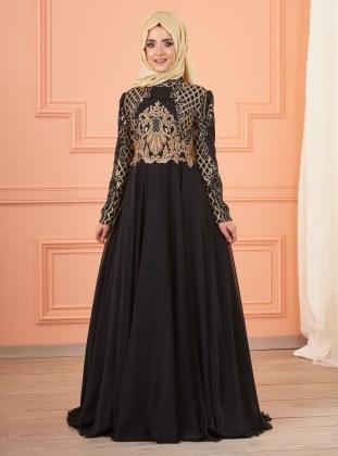 İmran Abiye Elbise - Siyah
