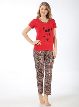 Pijama Takımı - Kırmızı