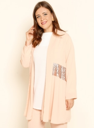 Powder - Unlined - Shawl Collar - Plus Size Coat