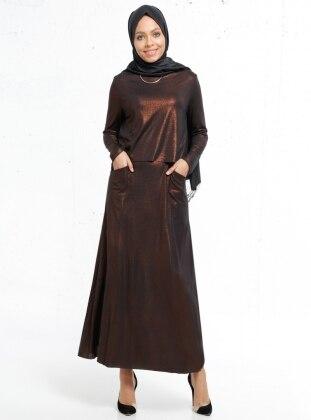 Simli Elbise - Bakır