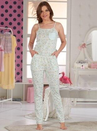 Bayan Tulum Pijama - Su Yeşili Sevim