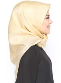 Gold - Golden tone - Plain - Scarf