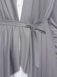 Gray - Shawl Collar - Cardigan