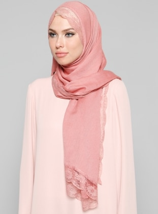 Acrylic - Lace - Plain - Salmon - Shawl