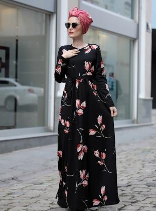 Gonca Elbise - Siyah Kırmızı