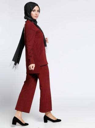 Bluz&Pantolon İkili Takım - Bordo