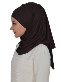 Combed Cotton - Cotton - Pinless - Plain - Brown - Instant Scarf