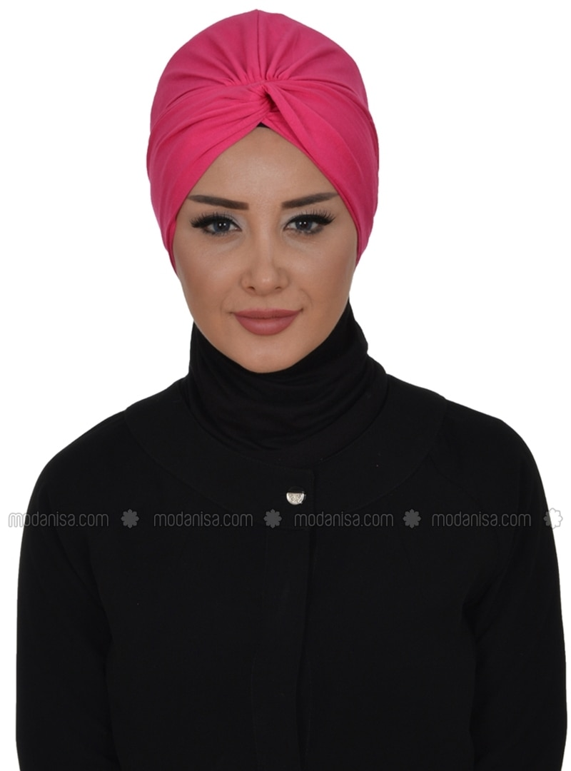 Pink - Plain - Pinless - Cotton - Combed Cotton - Instant Scarf