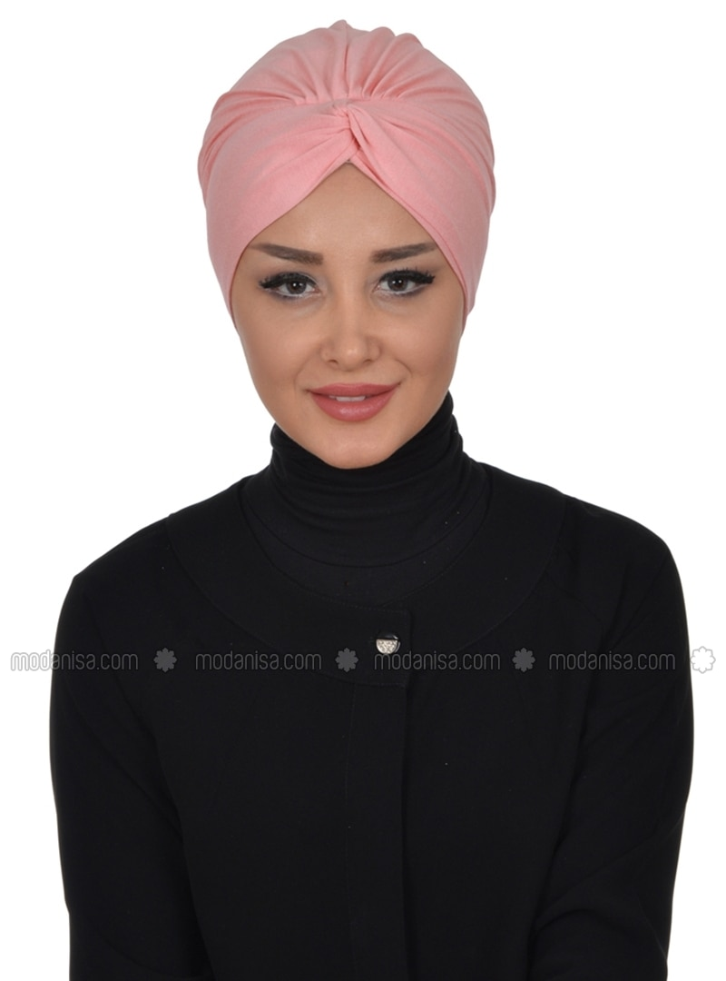 Powder - Plain - Pinless - Cotton - Combed Cotton - Instant Scarf