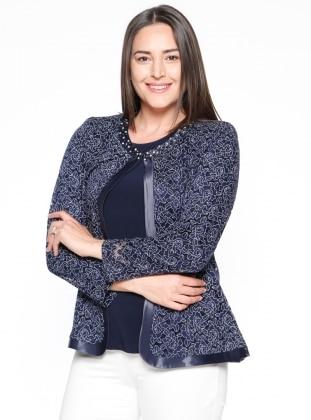 Bluz&Ceket Abiye Takım - Lacivert