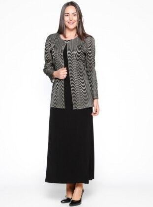 Ceket&Kolsuz Elbise İkili Takım - Siyah Arıkan