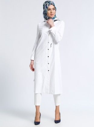 White - Ecru - Unlined - Topcoat