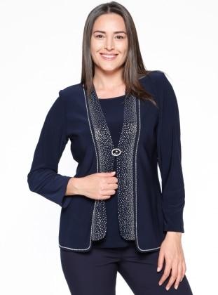 Kolsuz Bluz&Ceket İkili Takım - Lacivert