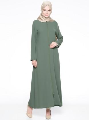 Kolu Süslü Ferace - Yeşil ModaNaz