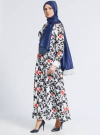 Black - White - Ecru - Multi - Point Collar - Fully Lined - Dresses