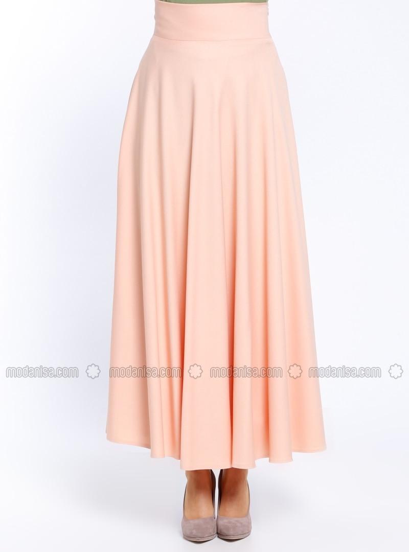 salmon fully lined skirt veteks line