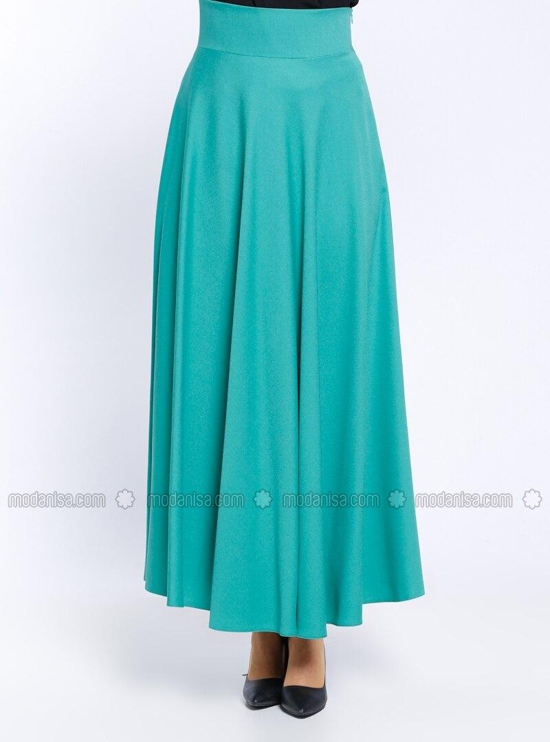 fully lined green skirt veteks line
