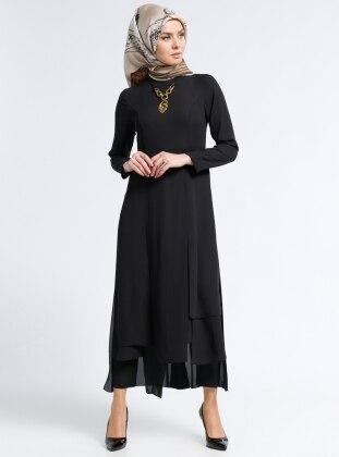 Kolyeli Tunik - Siyah Kayra