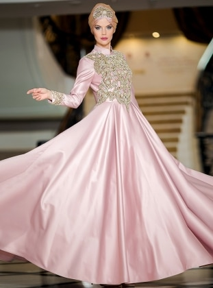 Efsane Abiye Elbise - Pudra