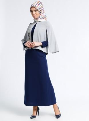 Elbise&Ceket İkili Takım - Gri Lacivert
