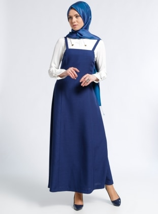 White - Navy Blue - Ecru - Unlined - Suit