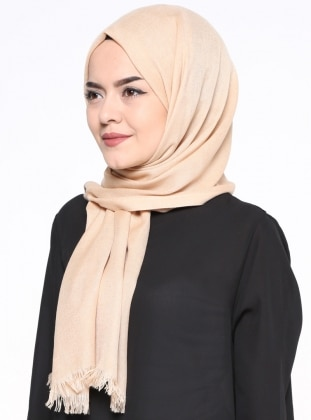 Gold - Plain - Pashmina - Shawl