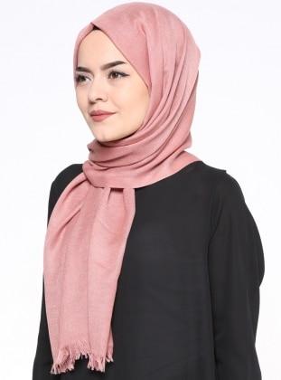 Pink - Plain - Pashmina - Shawl - Mervin Şal