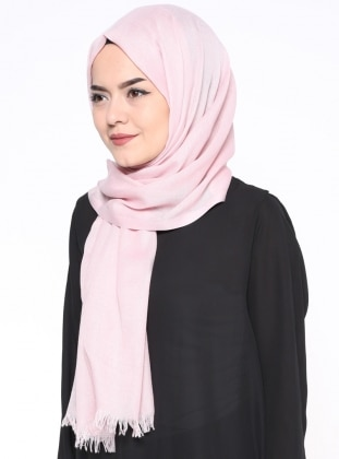 Powder - Plain - Pashmina - Shawl