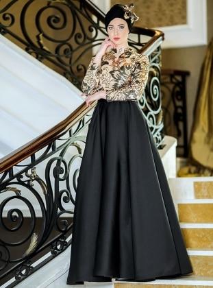İzabel Abiye Elbise - Siyah Zehrace