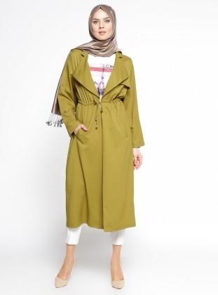 Kolsuz Tunik&Kap İkili Takım - Fıstık Yeşili