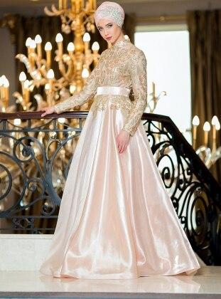 Lavinya Abiye Elbise - Somon Zehrace