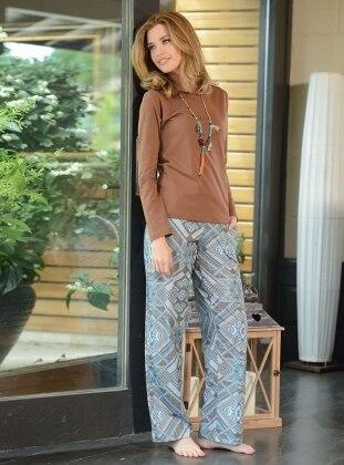 Pijama Takımı - Kahverengi