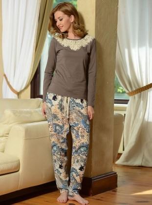 Pijama Takımı - Vizon