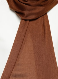 Brown - Plain - Pashmina - Shawl