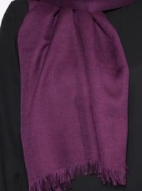 Purple - Plain - Pashmina - Shawl