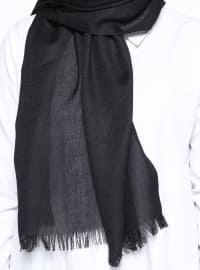 Black - Plain - Pashmina - Shawl