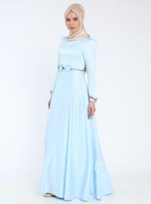 Lef`zen İsra Abiye Elbise - Mavi