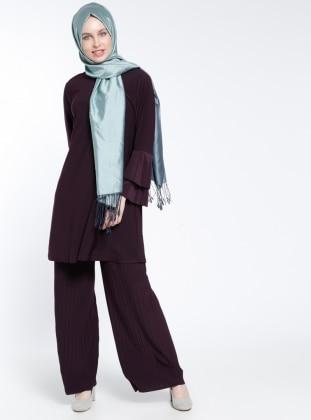 Pantolon&Tunik İkili Takım - Koyu Mor