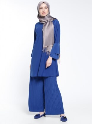 Pantolon&Tunik İkili Takım - Saks