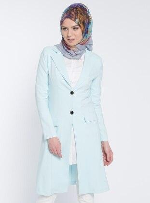 Şal Yaka Ceket - Bebe Mavisi