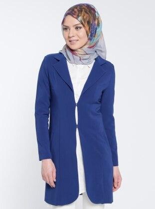Şal Yaka Ceket - İndigo