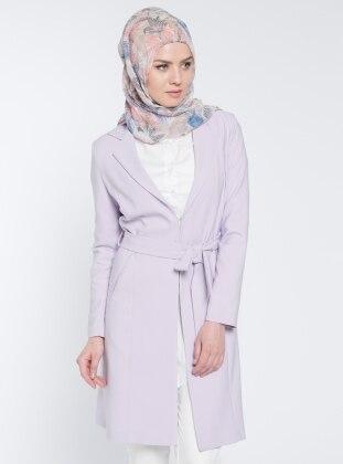 Şal Yaka Ceket - Lila